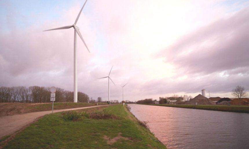 Aanvraag windturbines naast Albertkanaal door de firma W-kracht