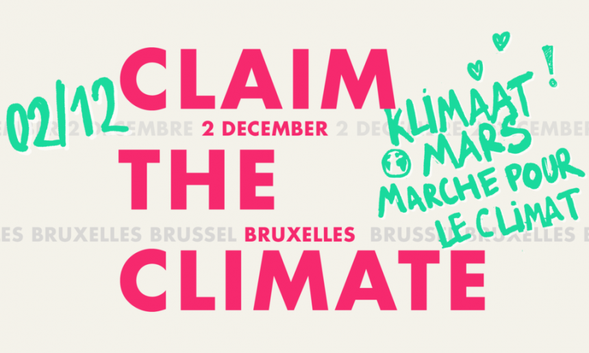 Klimaatmars in Brussel op 2 december